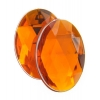 Acrylic 18x13mm Oval Facet Orange